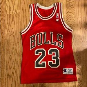 Vintage Bulls champion brand Michael Jordan Jersey